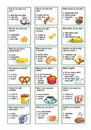 English Worksheet: breakfast flash cards