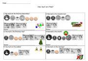 English Worksheet: money worksheet
