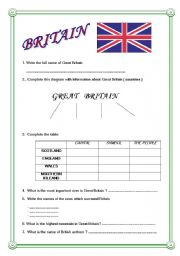 English Worksheets: Britain - Geography