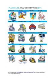 Flashcard: Transportation  Set 1