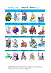 Flashcard:Transportation Set 2