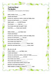 English Worksheets: Twist and Shout by The Beatles - Song Activity - 5 pages