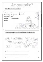 English Worksheets: are you polite? (2 pages)