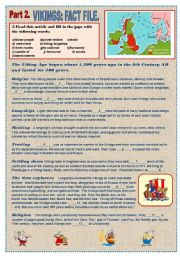 English Worksheet: VIKINGS - Amazing history guide. Prt 2