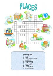 English Worksheet: Places in town (easy)