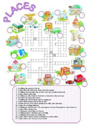 english exercises places crossword. Black Bedroom Furniture Sets. Home Design Ideas
