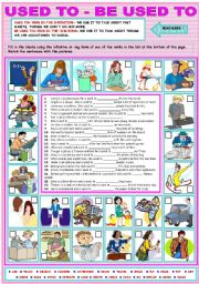 English Worksheets: USED TO - BE USED TO