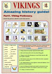 English Worksheet: VIKINGS -Amazing history guide.Part 1