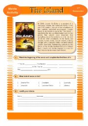 English Worksheets: Movie Activity - The Island