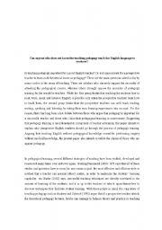 English Worksheets: pedagogy