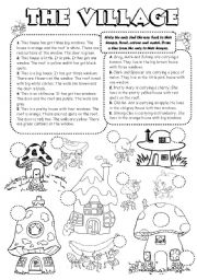 English Worksheet: The Ant Village