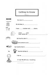English Worksheets: Introduce yourself