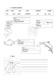 English Worksheet: Big, small, long and short