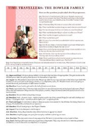 English Worksheets: Time travellers - Reading comprehension