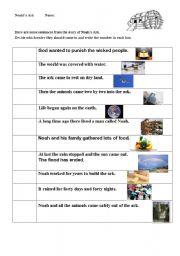 English Worksheets: Noah�s ark