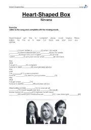 English Worksheet: Heart-Shaped Box by Nirvana