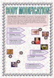 English Worksheets: Body modification