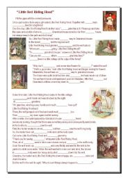 English Worksheet: Little red riding hood - pronouns