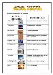 natural disasters esl worksheet by emece. Black Bedroom Furniture Sets. Home Design Ideas
