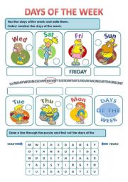 math worksheet : worksheet days of the week esl  the best and most comprehensive  : Days Of The Week Kindergarten Worksheets