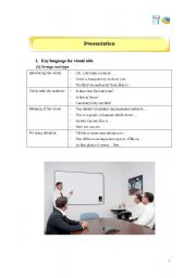 English Worksheets: Useful expressions for Presentation