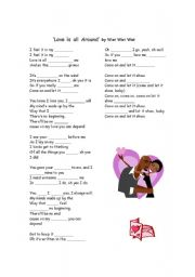 English Worksheets: Love is All Around
