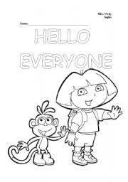 English Worksheets: Hello everyone