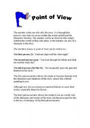 Point  Of View  ESL worksheet by wilsonsensei