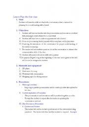 English worksheets: Korean Middle School English Lesson Plan