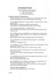 English worksheet: Proofreading verbs
