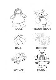 English Worksheet: My toys dot-to-dot