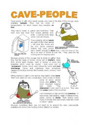 English Worksheets: CAVE PEOLE