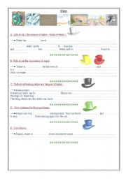 English Worksheets: Writing activity using the six hats strategy