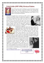 Printables Frida Kahlo Worksheets english teaching worksheets films frida kahlo part 2