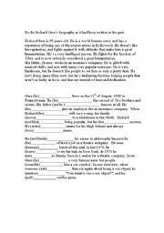 English Worksheets: Richard Gere