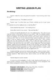 Crystal How To Write An Essay Lesson Plan