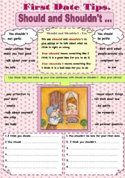English Worksheet: First Date Tips- Should and Should not...