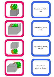 English worksheet: Memory card game (1/2)