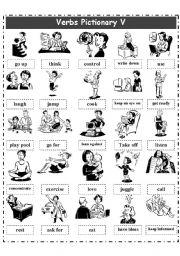 English Worksheets: VERBS PICTIONARY 5