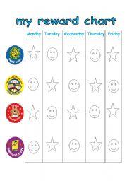 English Worksheets: weekly reward chart
