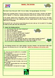 English Worksheets: Speedy, the tortoise