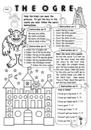 English Worksheets: The ogre