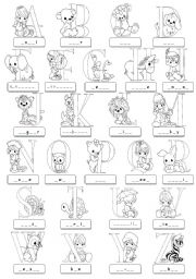 English Worksheets: ABC - illustrated