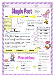 English Worksheet: Simple Past