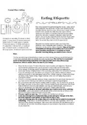 Printables Etiquette Worksheets english teaching worksheets etiquette eating etiquette