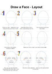 English Worksheets: How to Draw a Face