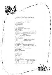 English Worksheet: Present Perfect Practice - Song: I still haven�t found what I�m looking for - U2