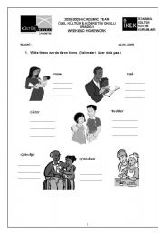 English Worksheets: famiy (writing practice)