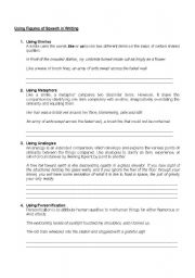 Worksheet Figures Of Speech Worksheet english teaching worksheets figures of speech speech