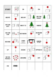 English Worksheet: Prepositions game